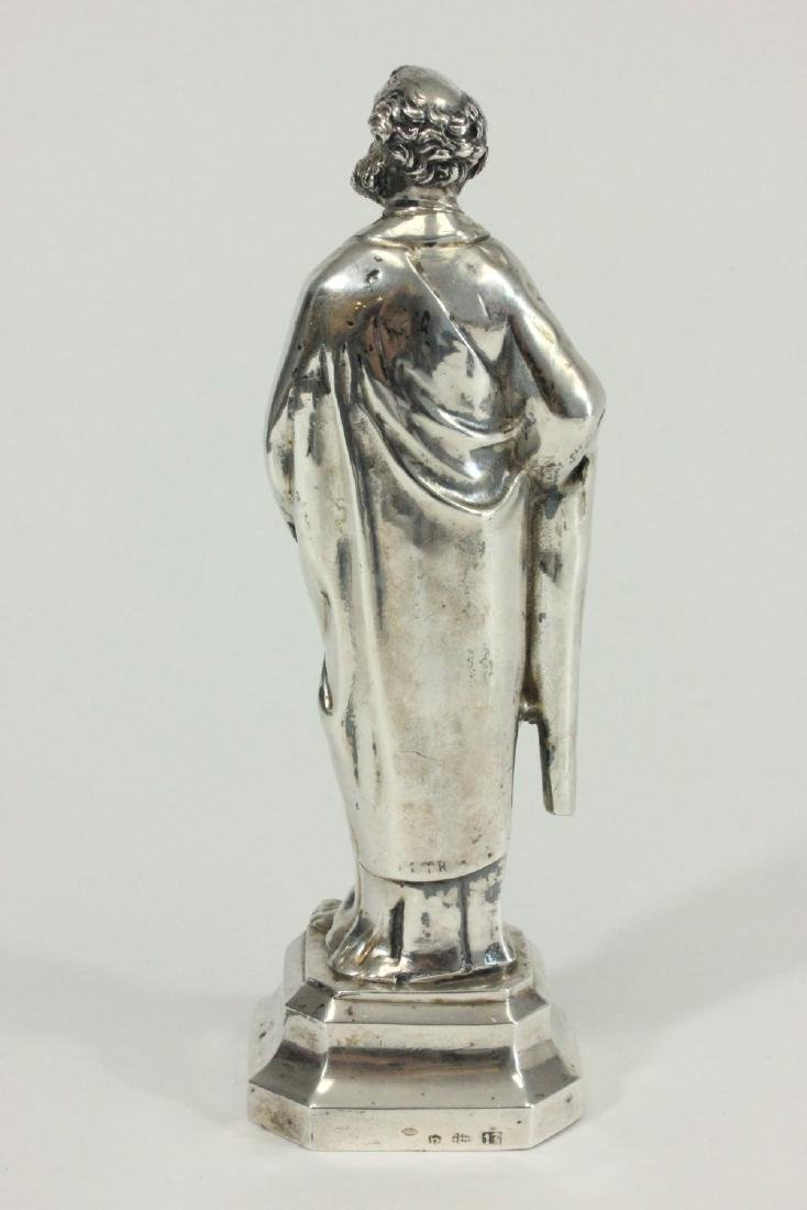 Silver Figure of Saint Peter Holding Key & Book - 3