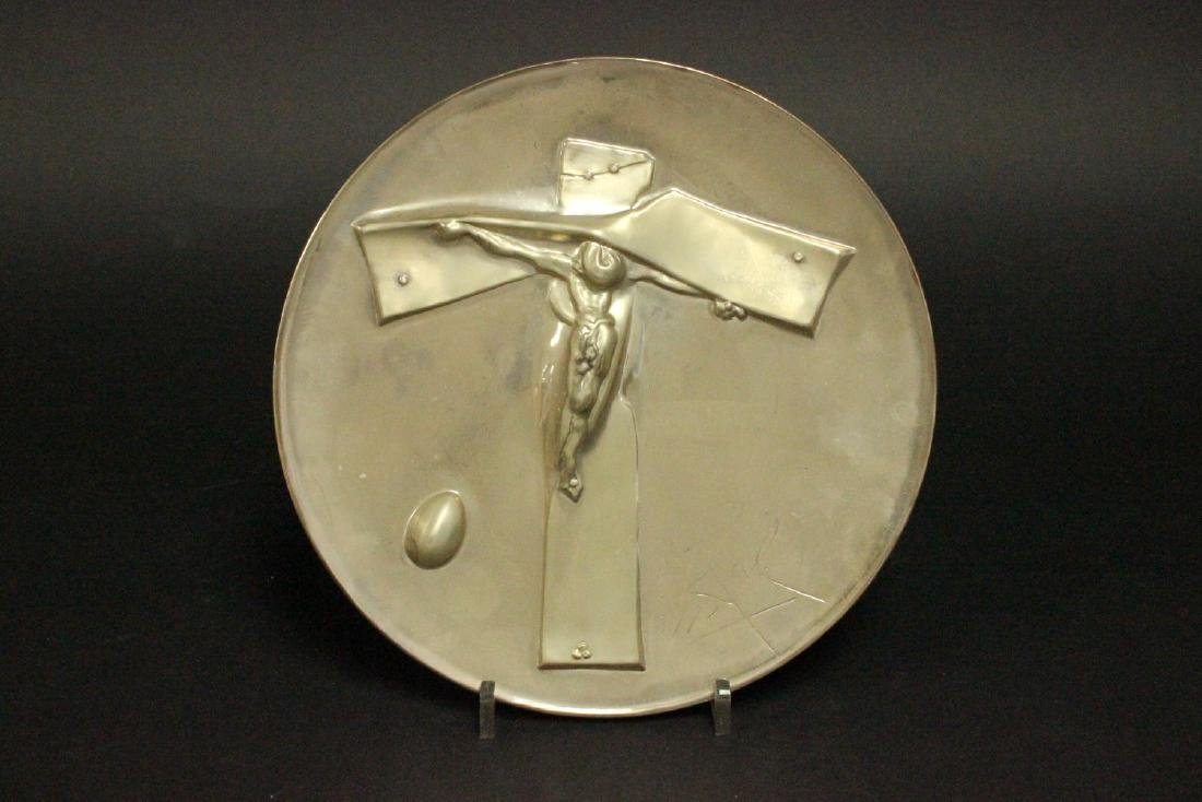 Salvador Dali Sterling Silver Easter Plate