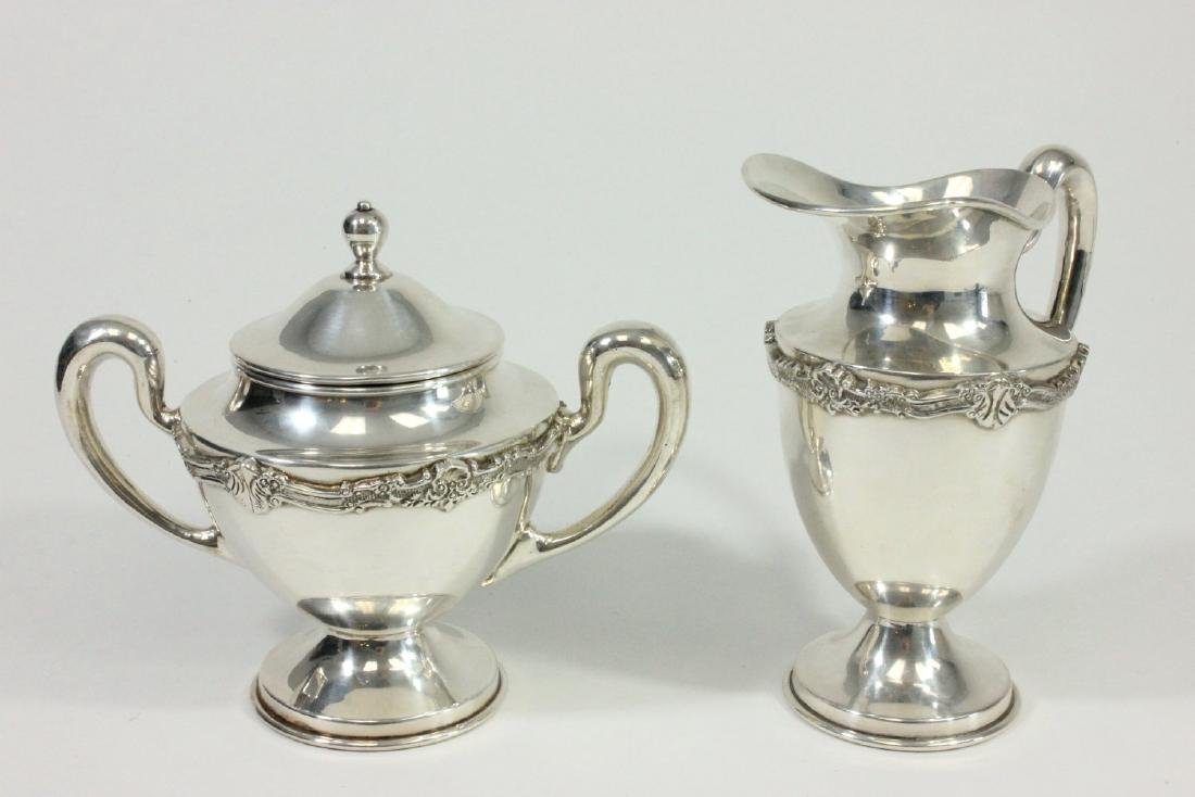 Mexican Sterling Silver Creamer & Sugar