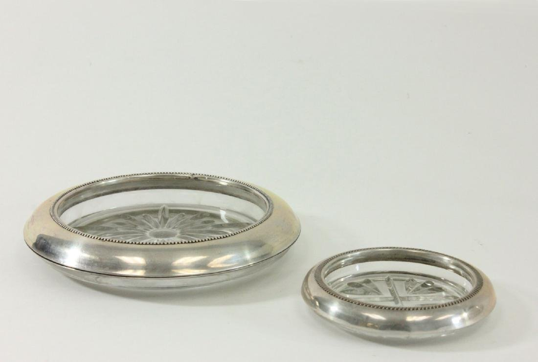 Group Lot of Silverplated Trays, Bucket & Coasters - 6