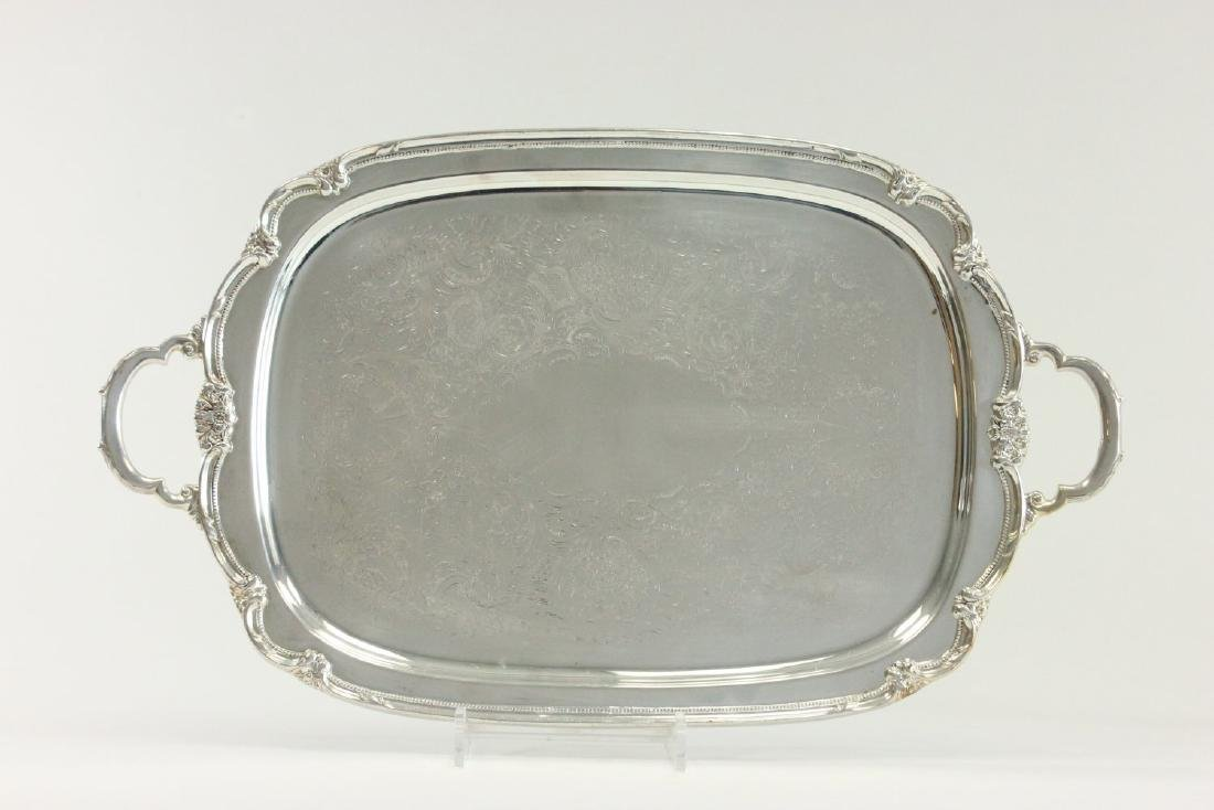 Lot of 5 Silverplated Trays - 5