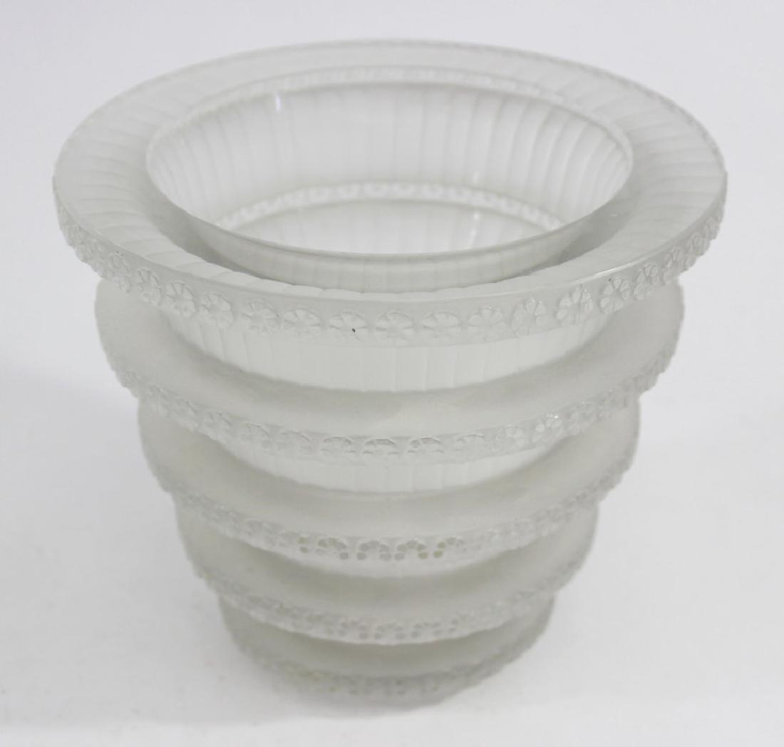 """R. Lalique France Glass """"Chevreuse"""" Vase"""