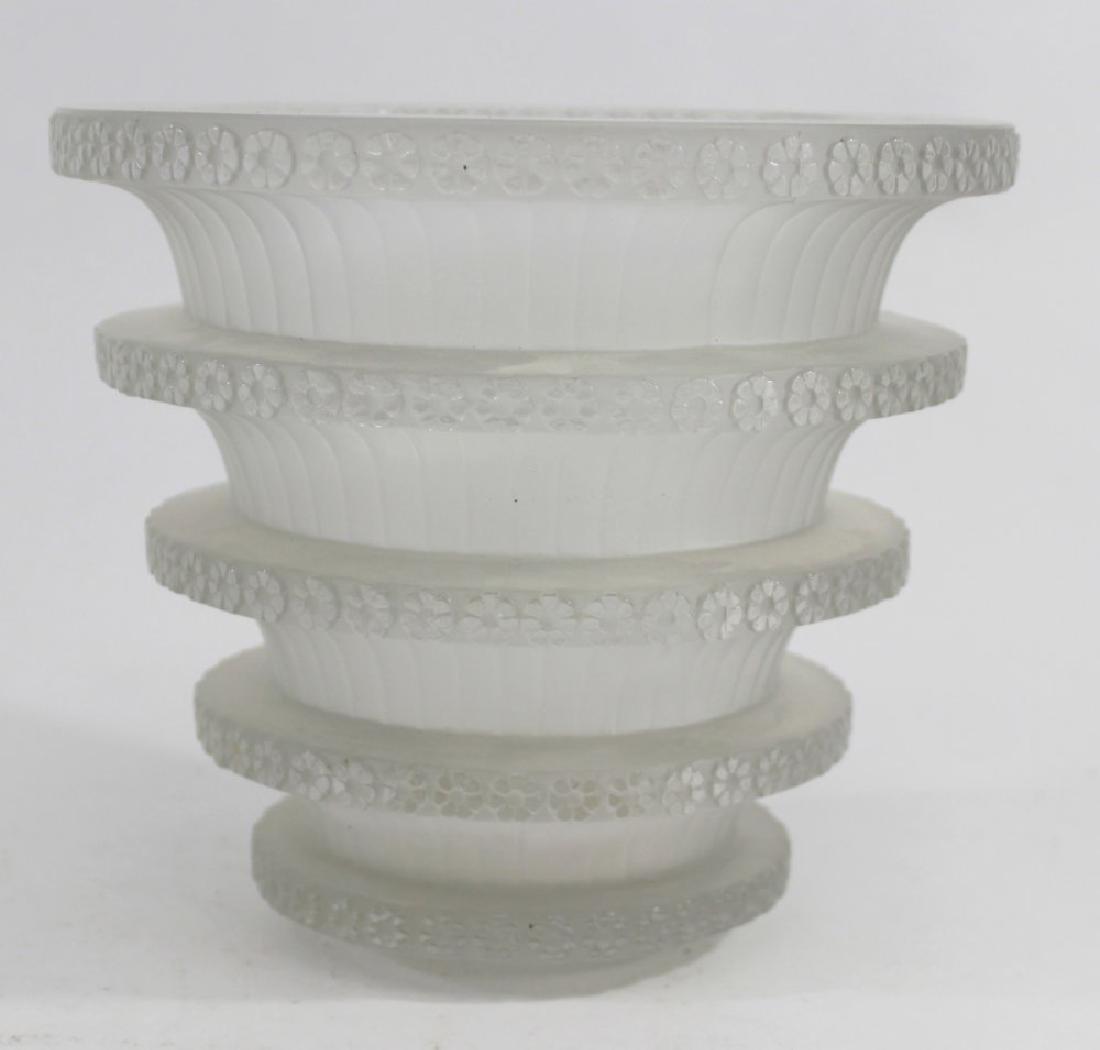 """R. Lalique France Glass """"Chevreuse"""" Vase - 2"""