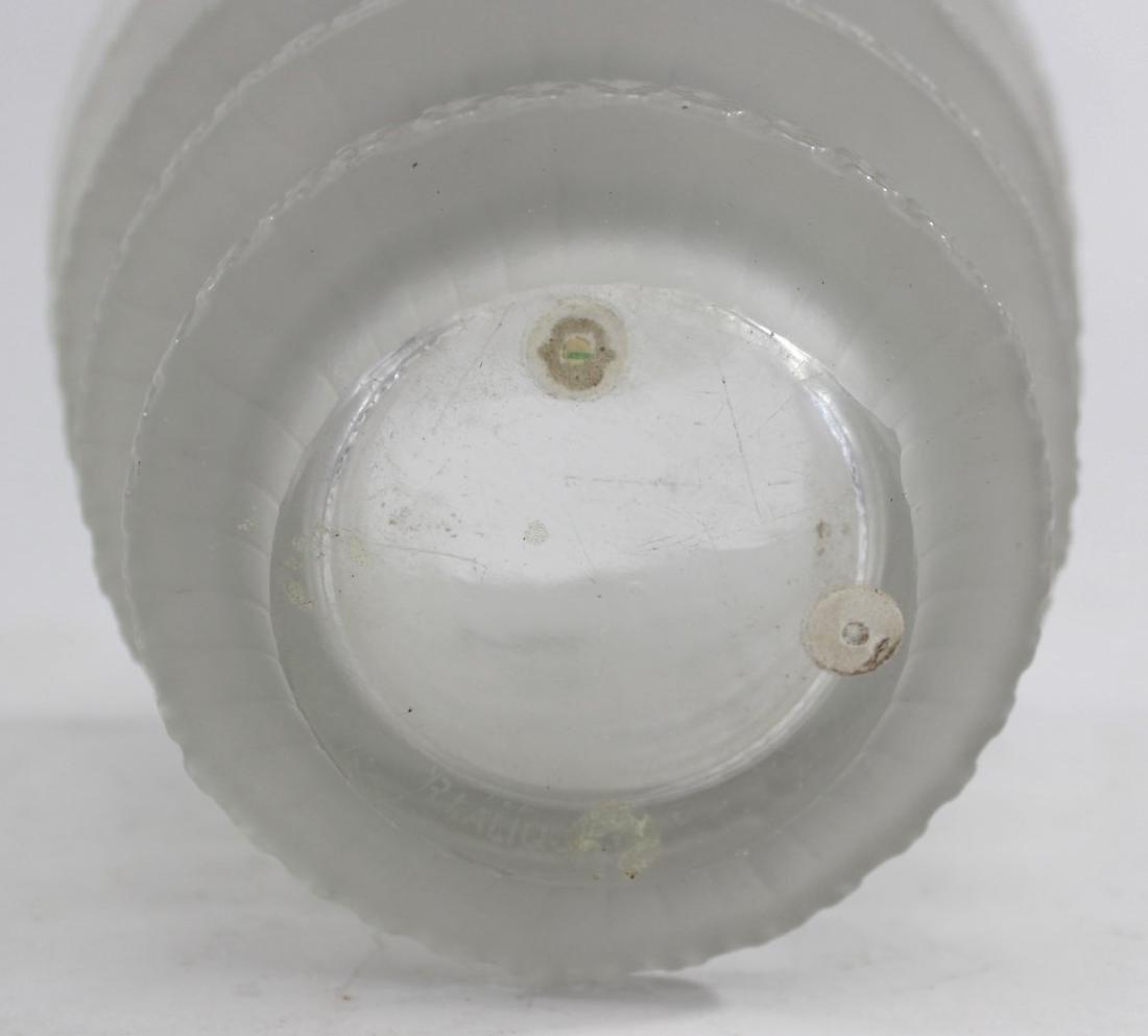 """R. Lalique France Glass """"Chevreuse"""" Vase - 4"""