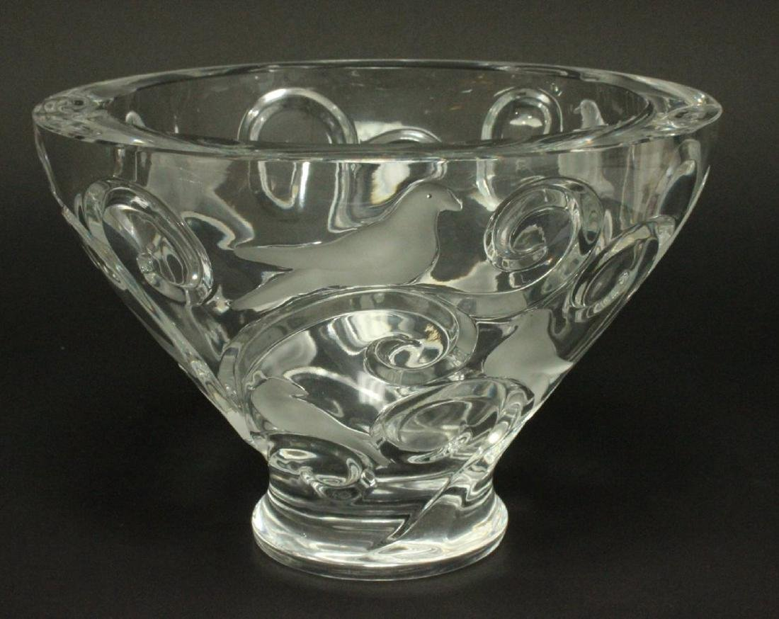 Lalique Verone Clear & Frosted Bowl