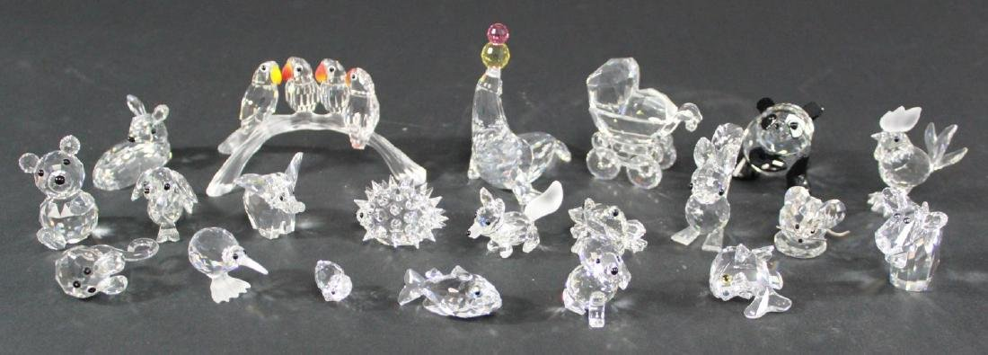 Lot of 21 Swarovski Crystal Glass Figurines