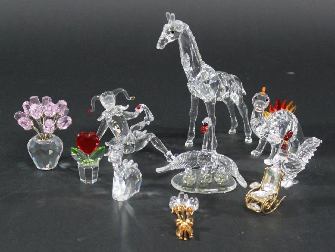 Lot of 10 Swarovski Crystal Glass Figurines