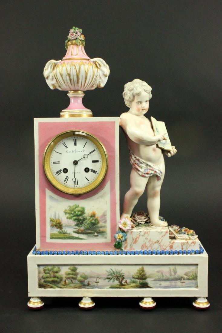 Porcelain Figural Clock