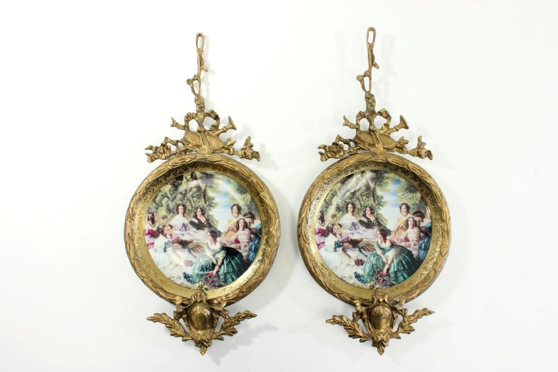 Pair Sèvres Style Porcelain Wall Hangings