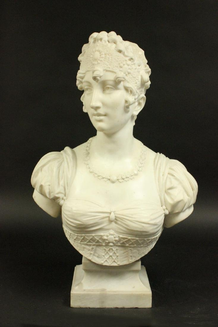 19th/20th Century Marble Bust of Empress Josephine
