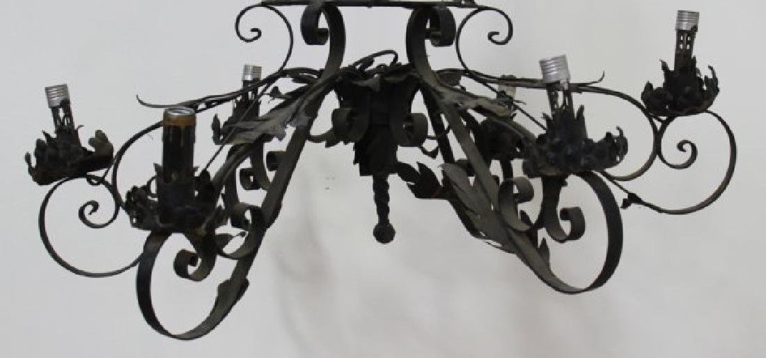 :Armorial 6-Light Chandelier with 3 Crests - 2