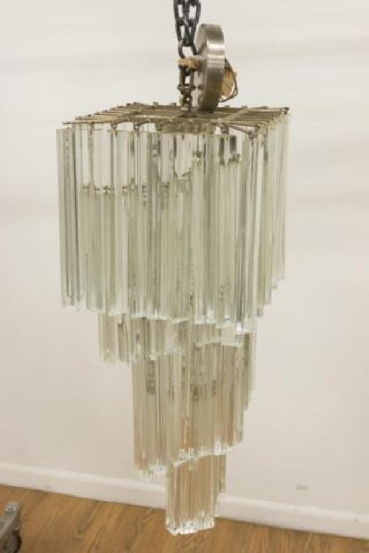 :Mid-Century Modern Camer Crystal Chandelier