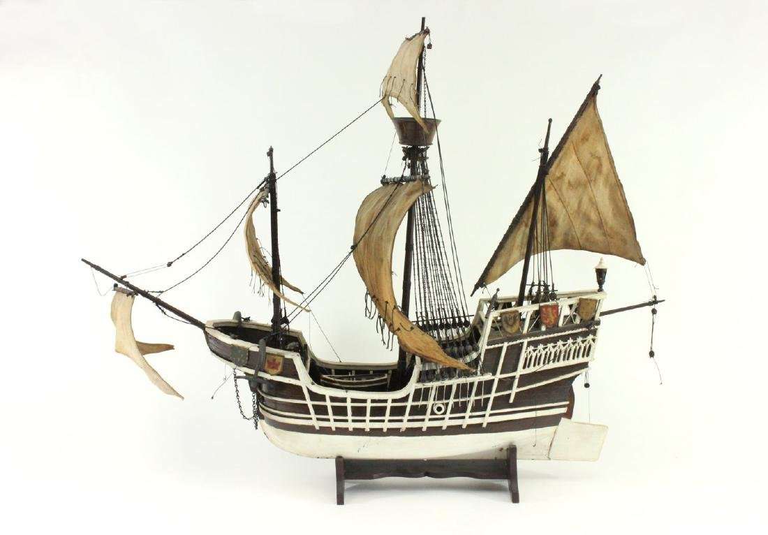 "Wood Ship's Model of ""Santa Maria"""