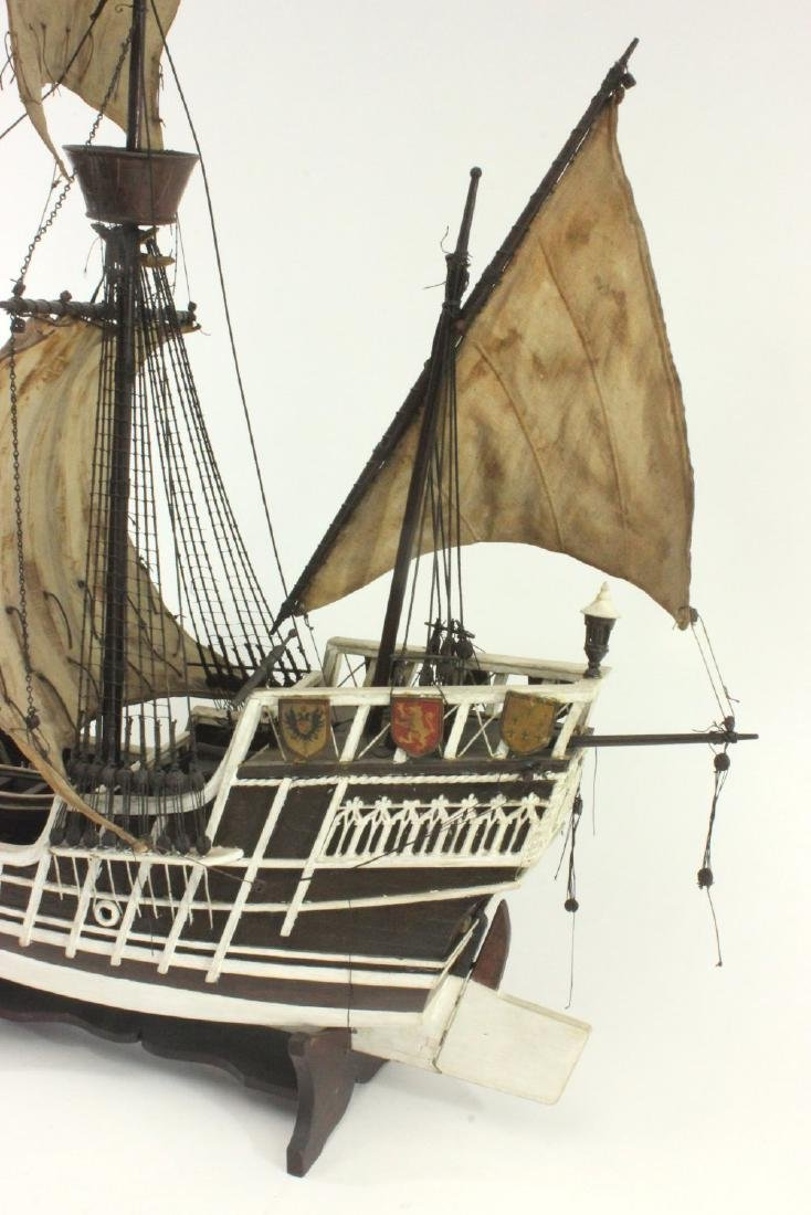 "Wood Ship's Model of ""Santa Maria"" - 3"