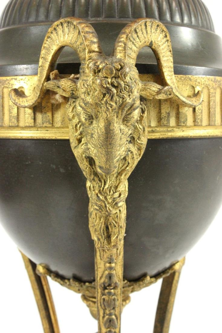 2-Tone Bronze Lamp with Rams Heads - 3
