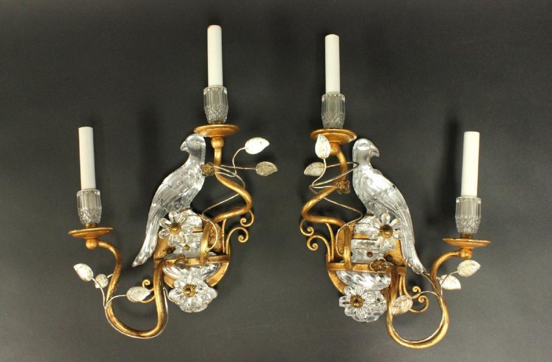 Pair Maison Bagues Style Bird 2-Light Sconces