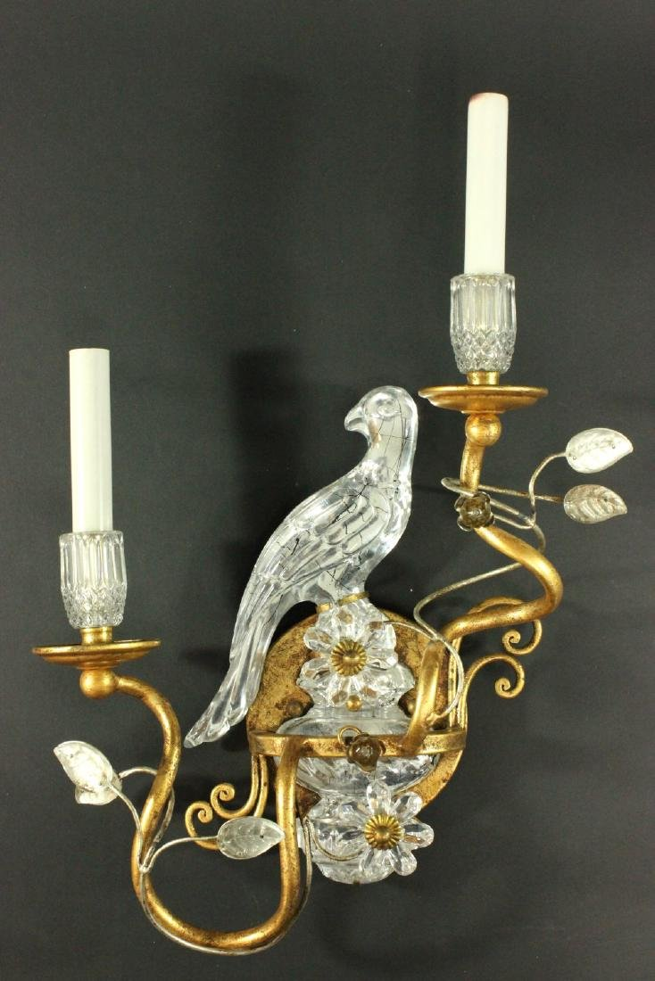 Pair Maison Bagues Style Bird 2-Light Sconces - 2