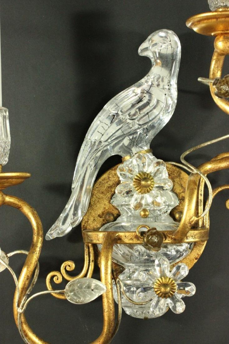 Pair Maison Bagues Style Bird 2-Light Sconces - 3