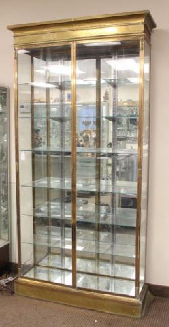 :French Brass & Glass Display Cabinet