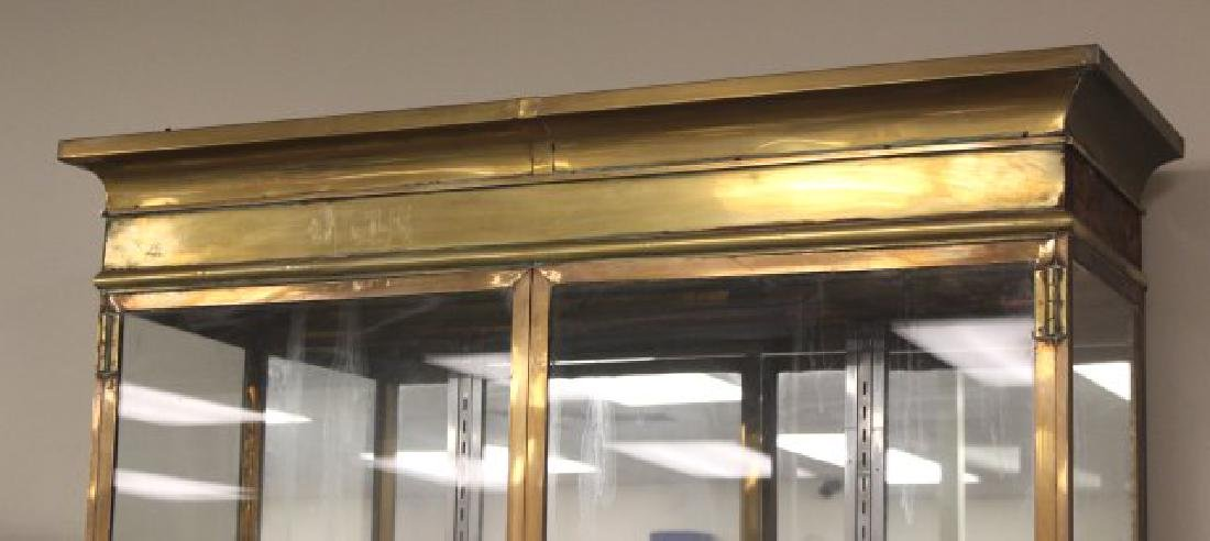 :French Brass & Glass Display Cabinet - 2