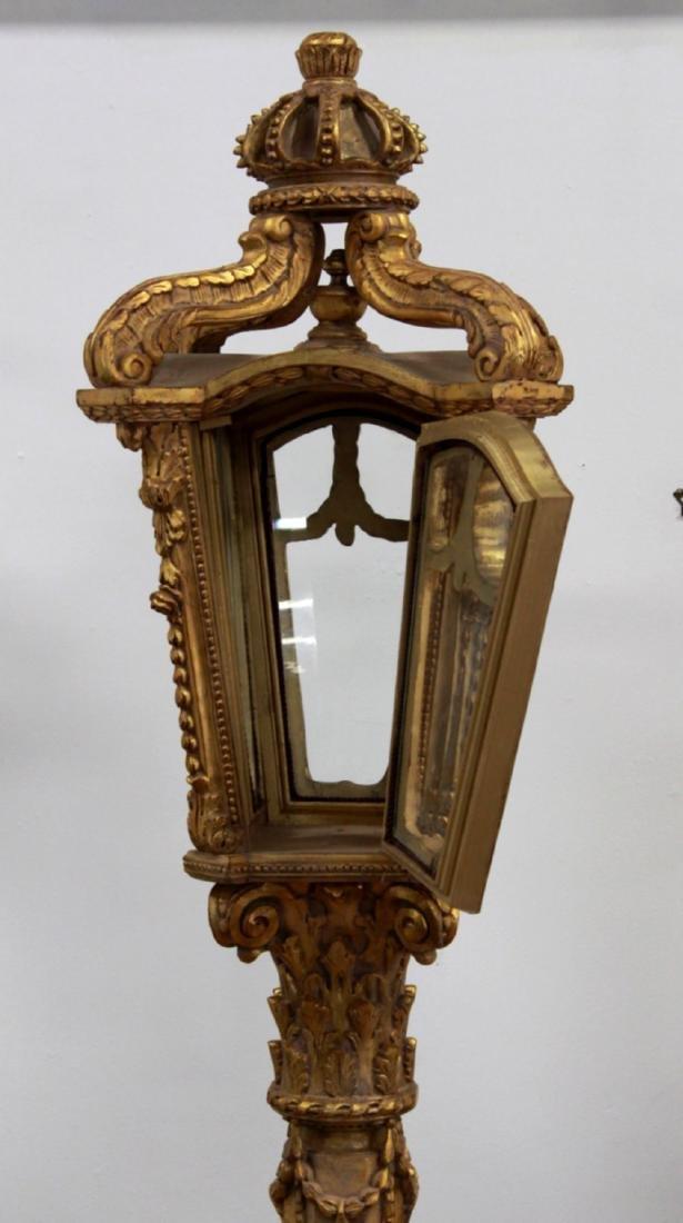 Pair Palace-Size Gilt Lamp Posts - 6