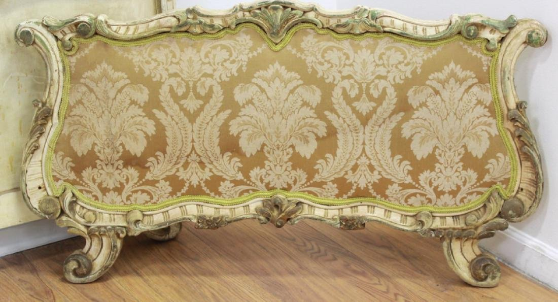 Pair Venetian Style Headboards & Footboards Beds - 3