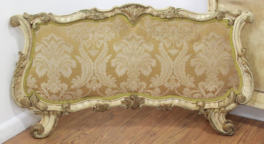 Pair Venetian Style Headboards & Footboards Beds - 4