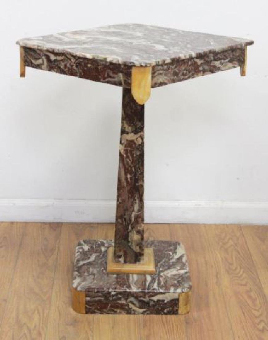 :Rouge Revolving Marble Pedestal