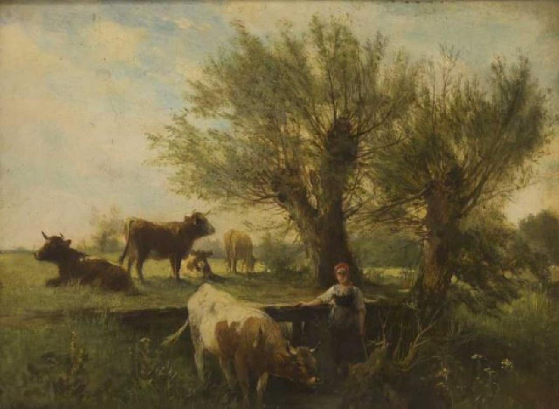 :Ludwig Sellmayr, Pastoral Scene with Girl