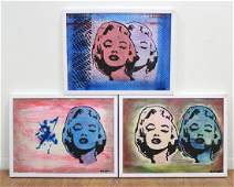 Roy Eder, 3 Pop Art Prints of Marilyn Monroe