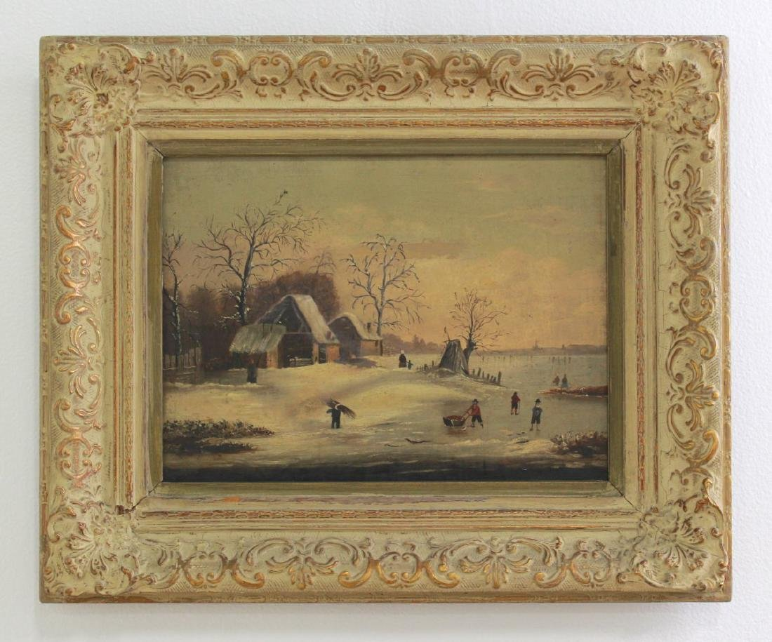 Dutch Winter Landscape with Skaters - 2