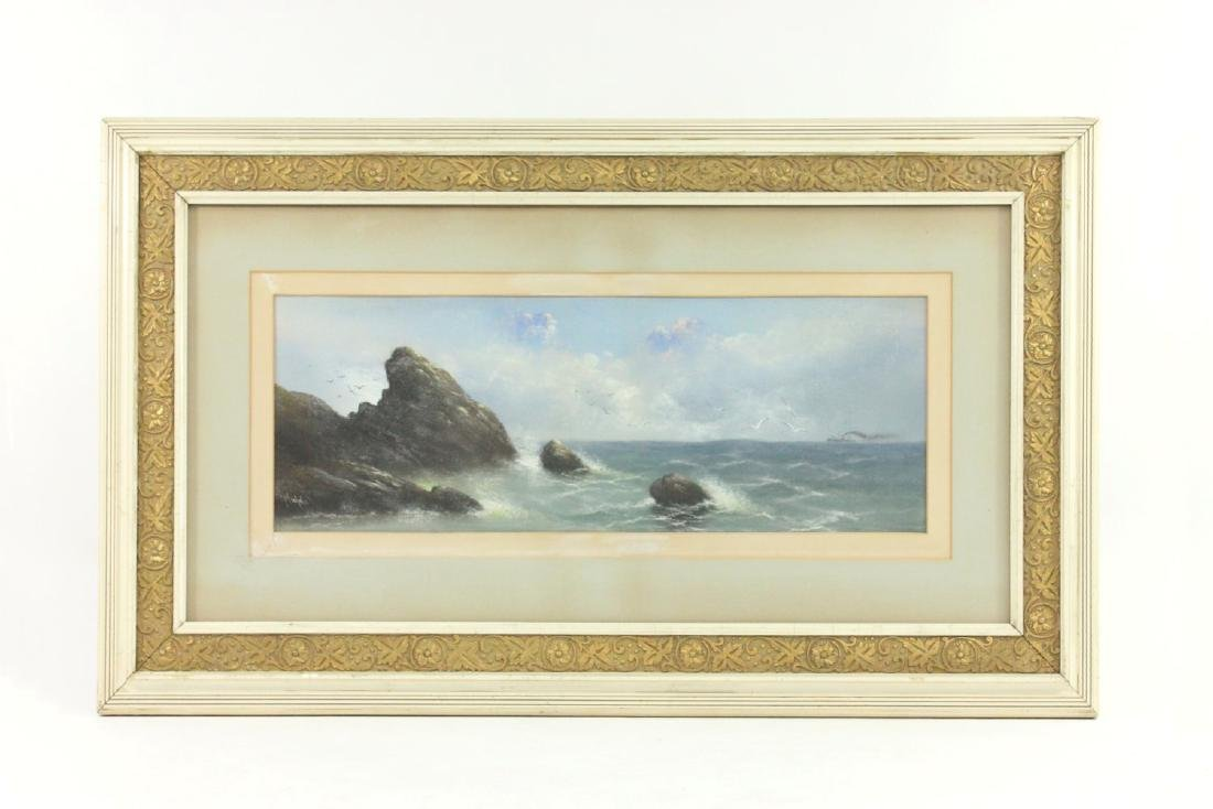 Nichols, Marine Pastel with Ship