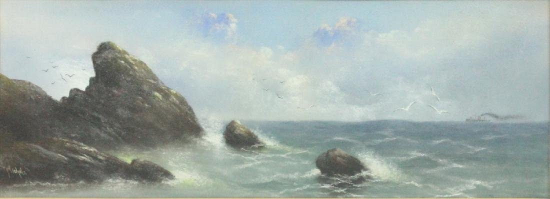Nichols, Marine Pastel with Ship - 2