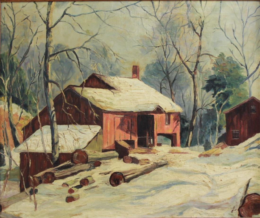 Walsh, Winter Landscape with Farmhouse