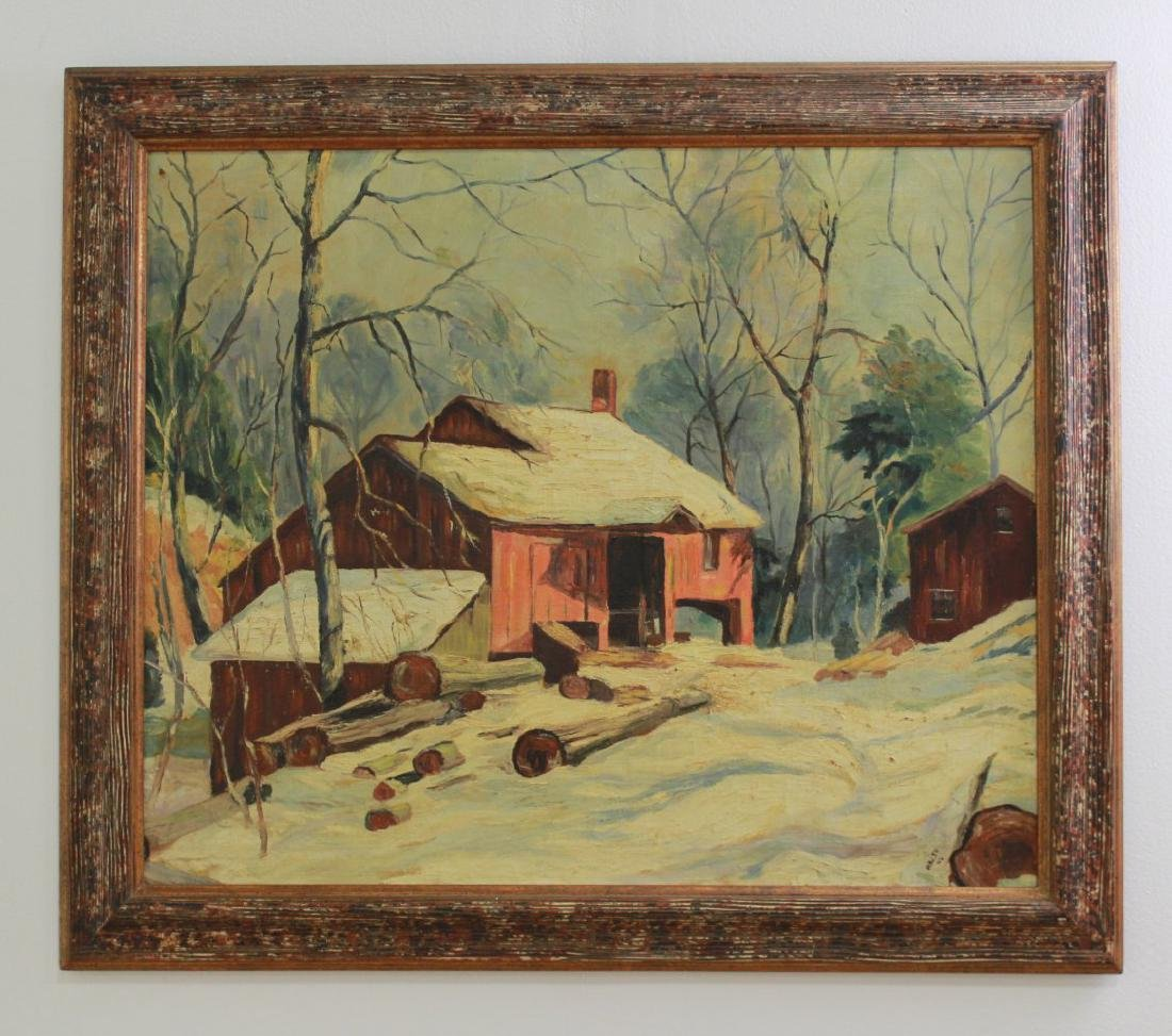 Walsh, Winter Landscape with Farmhouse - 2
