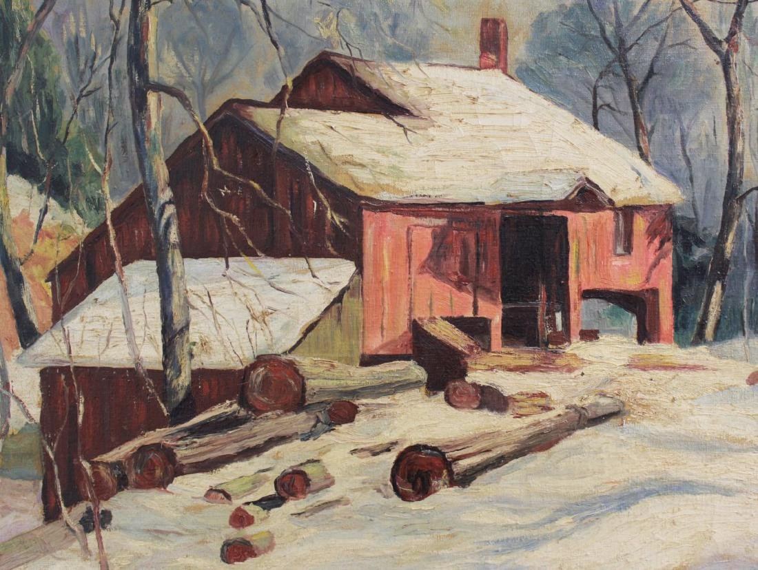 Walsh, Winter Landscape with Farmhouse - 3