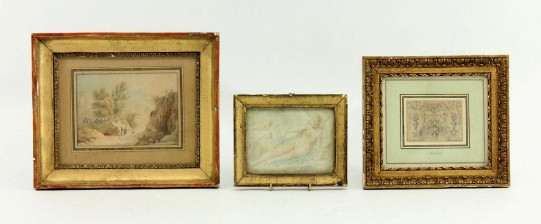 Attr. to Charles Eisen, Still Life & 2 Other Works