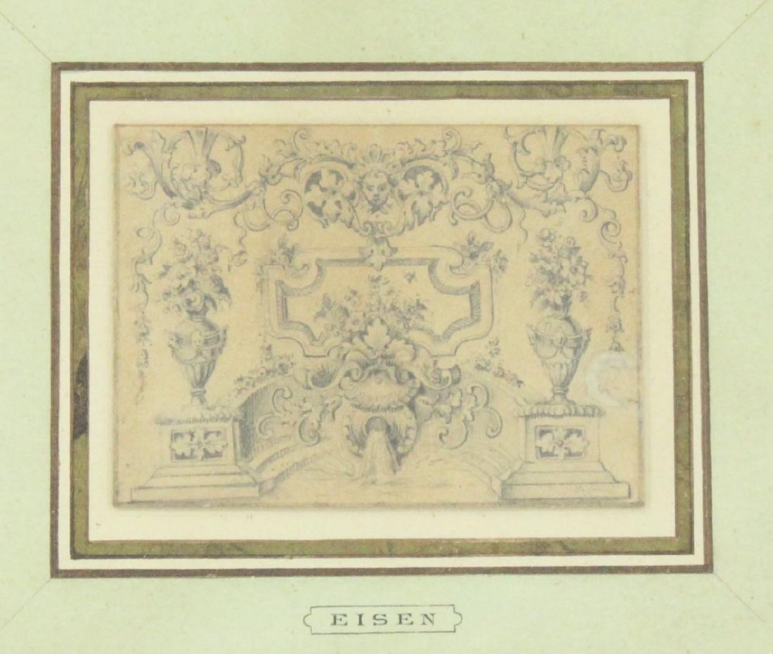 Attr. to Charles Eisen, Still Life & 2 Other Works - 5
