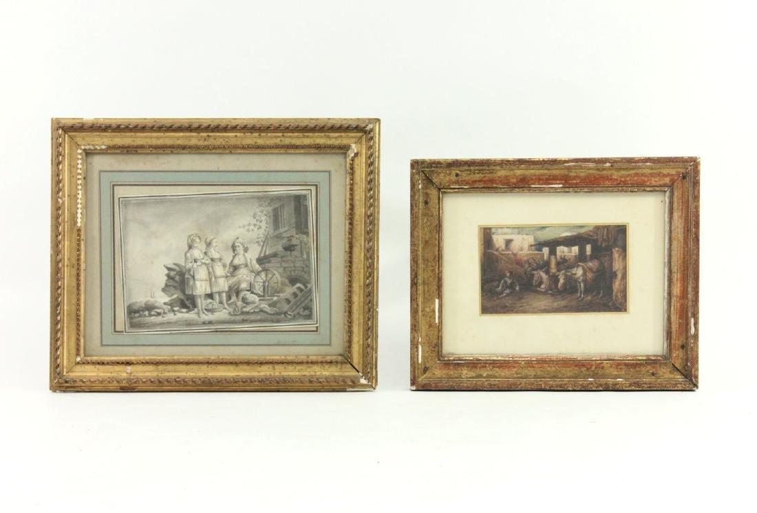 2 European 19th Century Watercolors