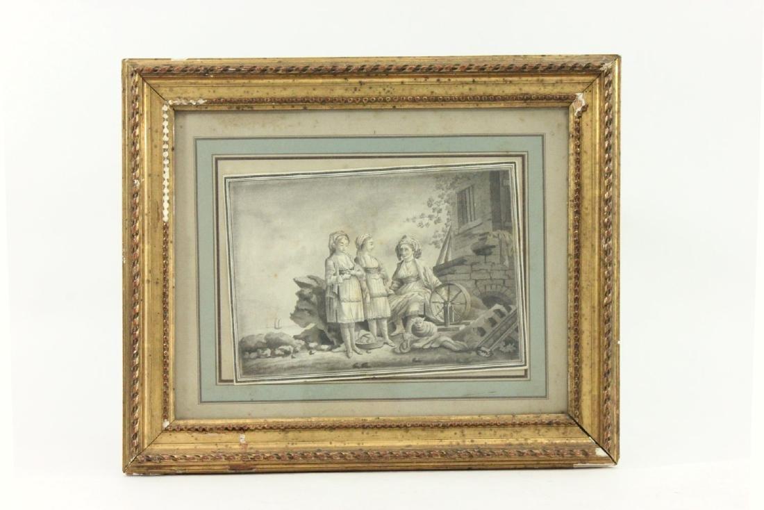2 European 19th Century Watercolors - 2