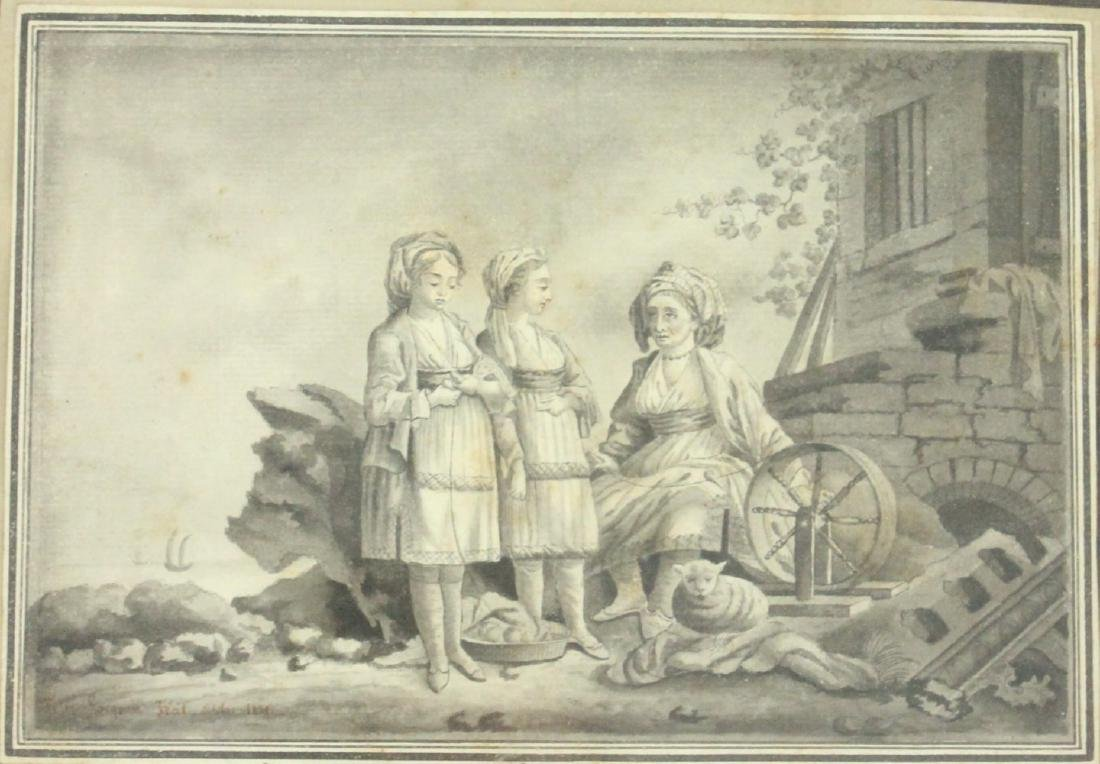 2 European 19th Century Watercolors - 3