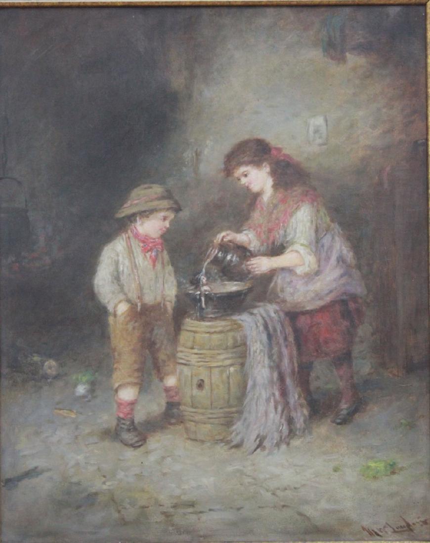 Mark W. Langlois, Children Washing a Doll