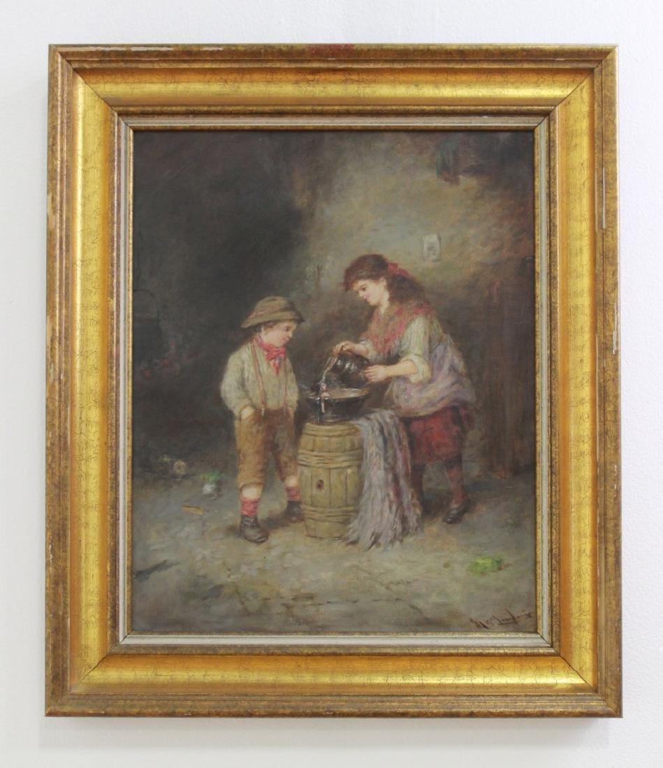 Mark W. Langlois, Children Washing a Doll - 2