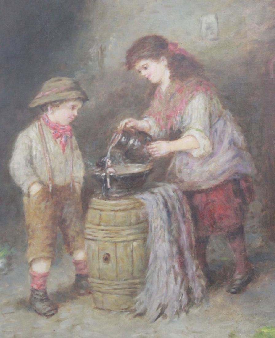 Mark W. Langlois, Children Washing a Doll - 3