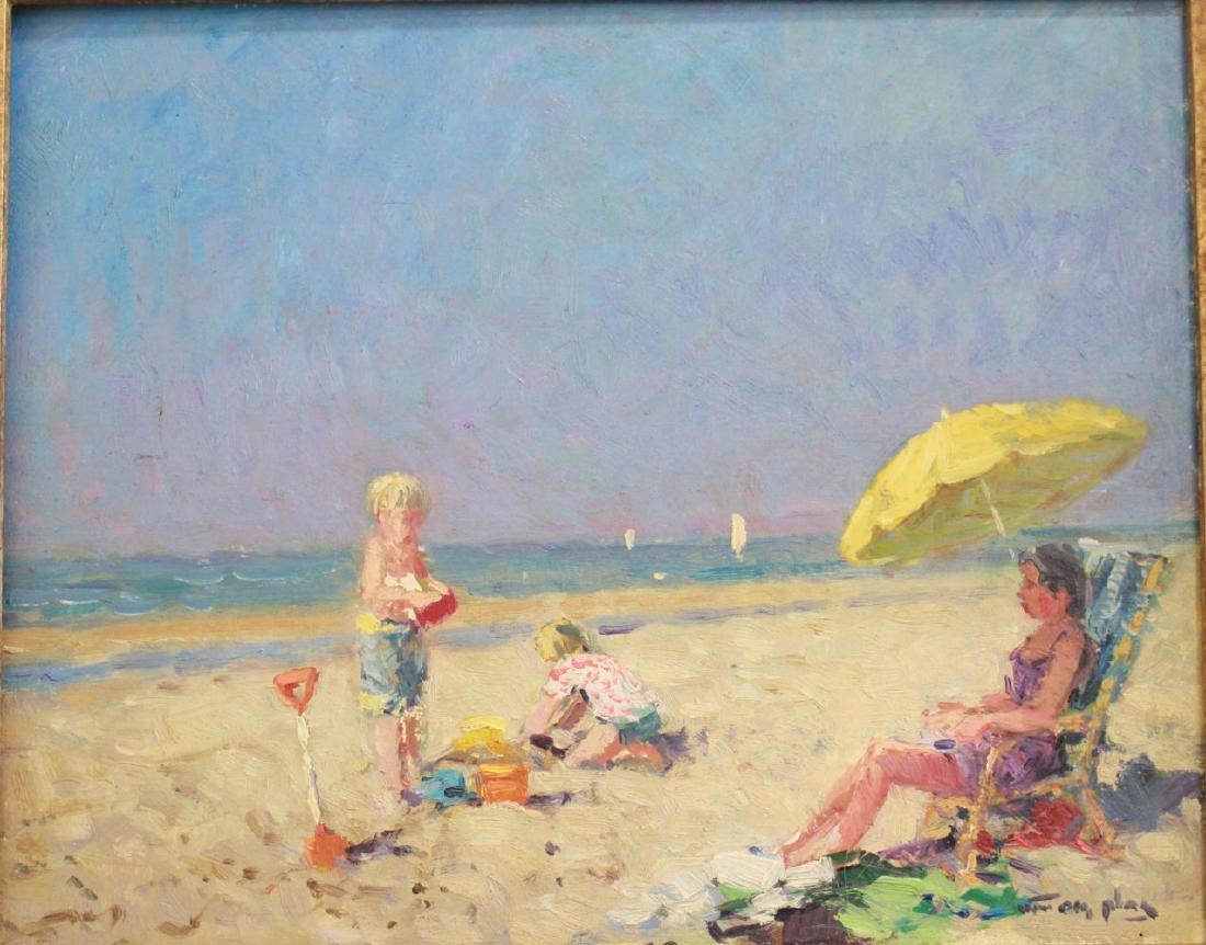 Niek Van Der Plas, Beach Scene