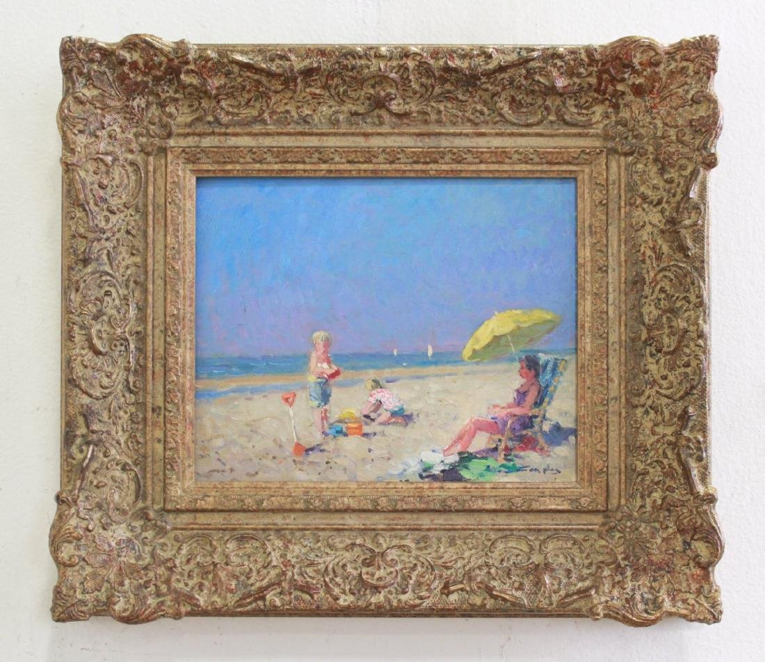 Niek Van Der Plas, Beach Scene - 2