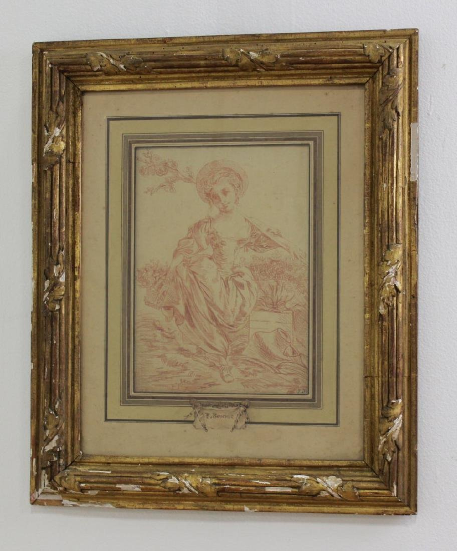 Attr. to Francois Boucher, Young Girl