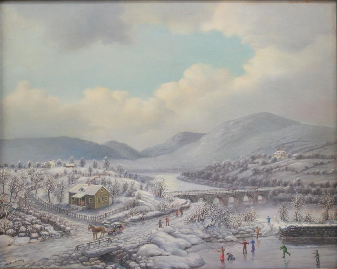 Albert Nemethy, Winter Landscape