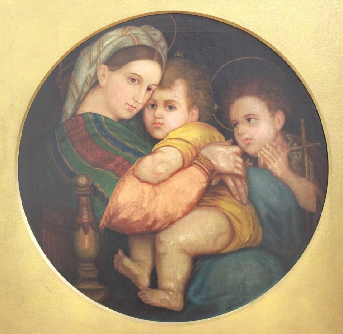After Raphael, Madonna & Child w/ John the Baptist