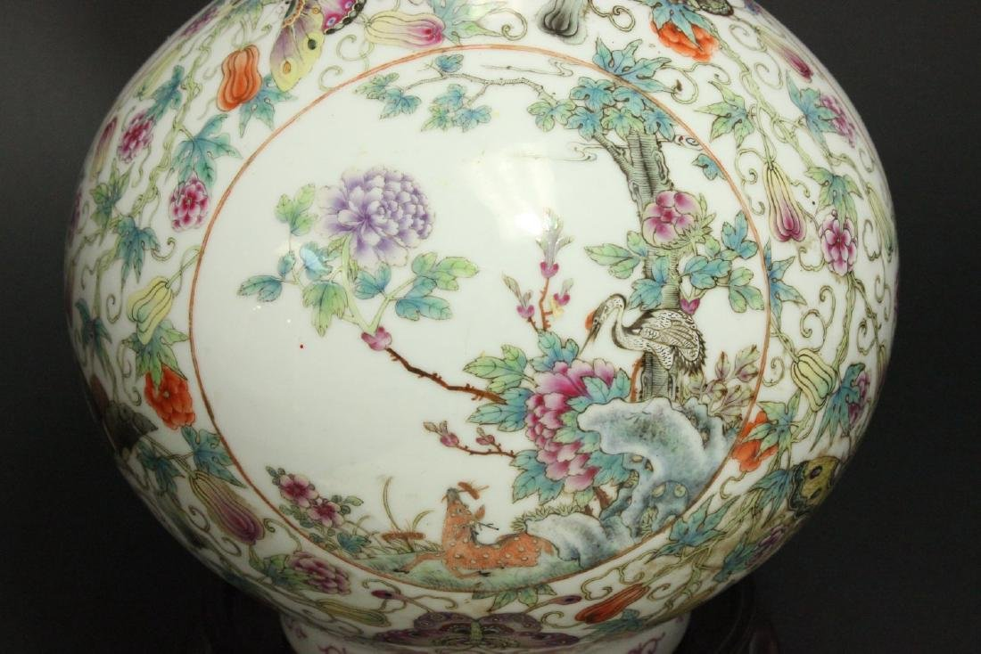 Chinese Porcelain Vase with 3-Panel Design - 5